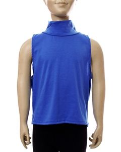 SLEEVELESS SOLID COLOR TURTLE NECK KID'S WHOLESALE TOP