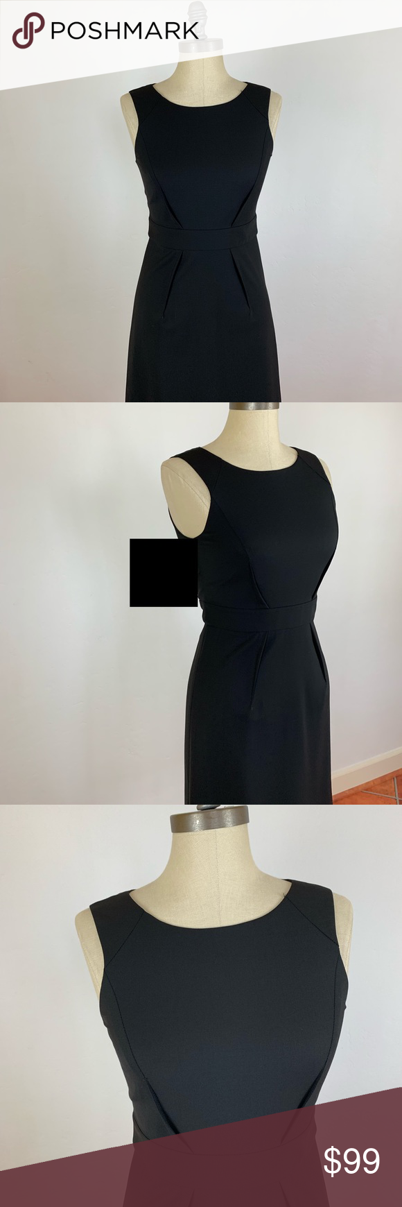 Theory Ennah Black Dress Black Dress Dresses Theory Dress [ 1740 x 580 Pixel ]