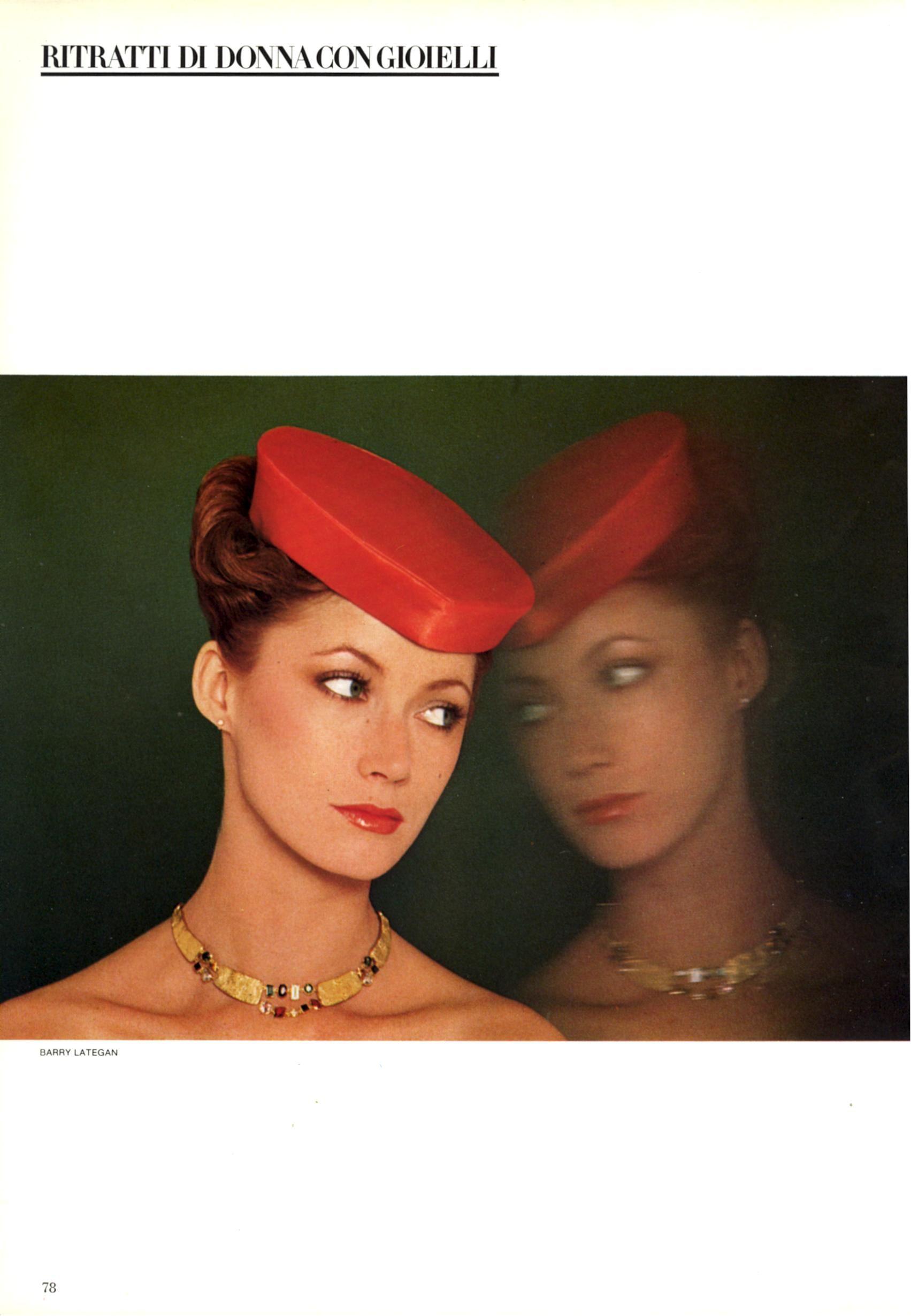 Vogue Italia Gioiello November 1978 Gioiello Ritratti Di Donna Con Gioielli Photo Barry Lategan Models Tara Shannon & Unknown