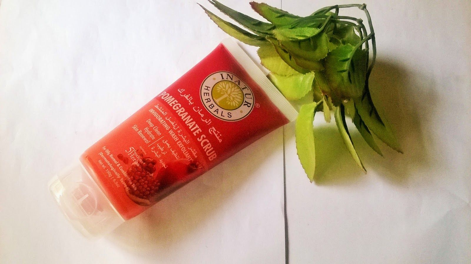 Beauty Beyond Inatur Herbals Pomegranate Scrub Review Pomegranate