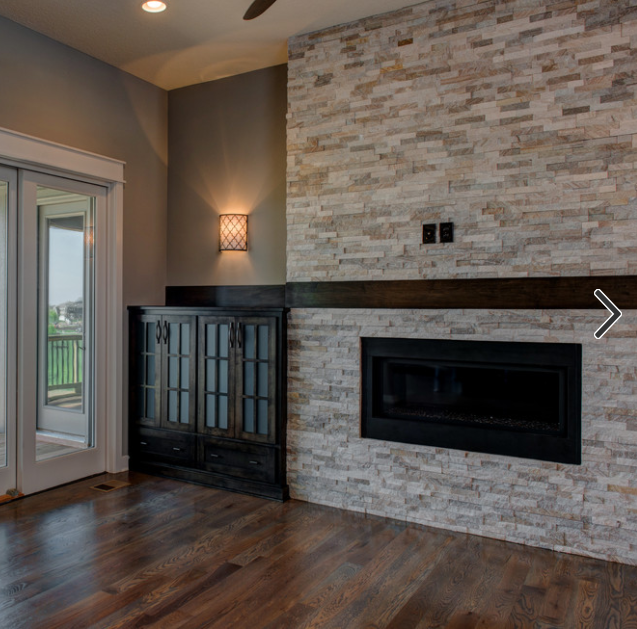 Tiled Fireplace With No Hearth Floating Above Floor With Large Shelf And Mounted Tv Fireplace Tile Floating Fireplace Small Remodel