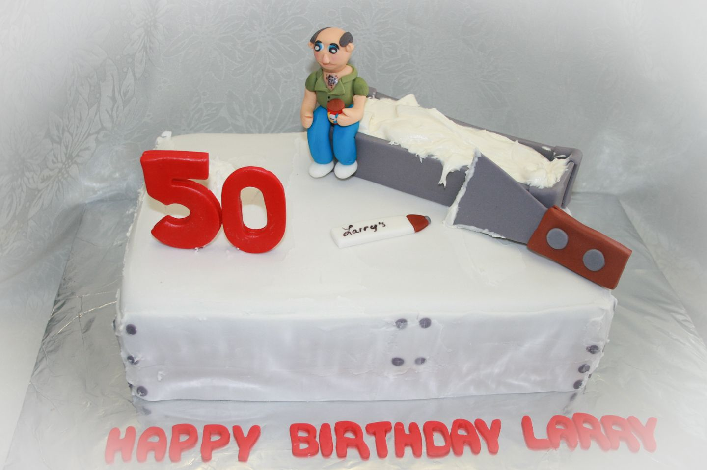 Drywall Taper Mudder Cake Turning 50 Birthday Chocolate Cupcakes