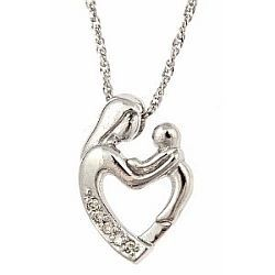 Shown here is the beautiful 10k white gold diamond mother and child shown here is the beautiful 10k white gold diamond mother and child pendant with necklace aloadofball Image collections