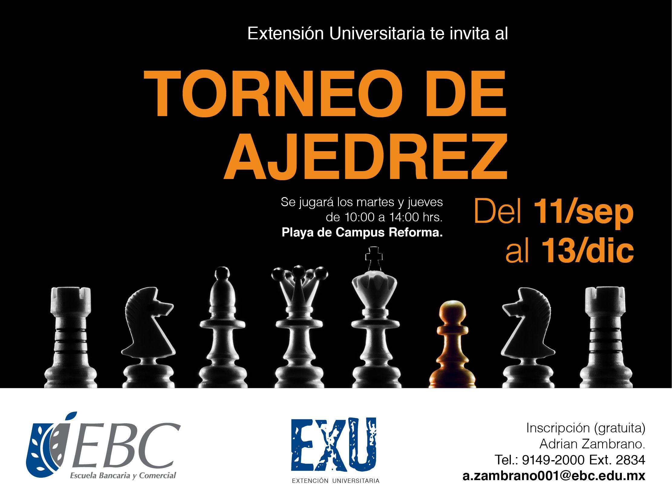¡Ya está el Torneo de Ajedrez! #CampusReforma