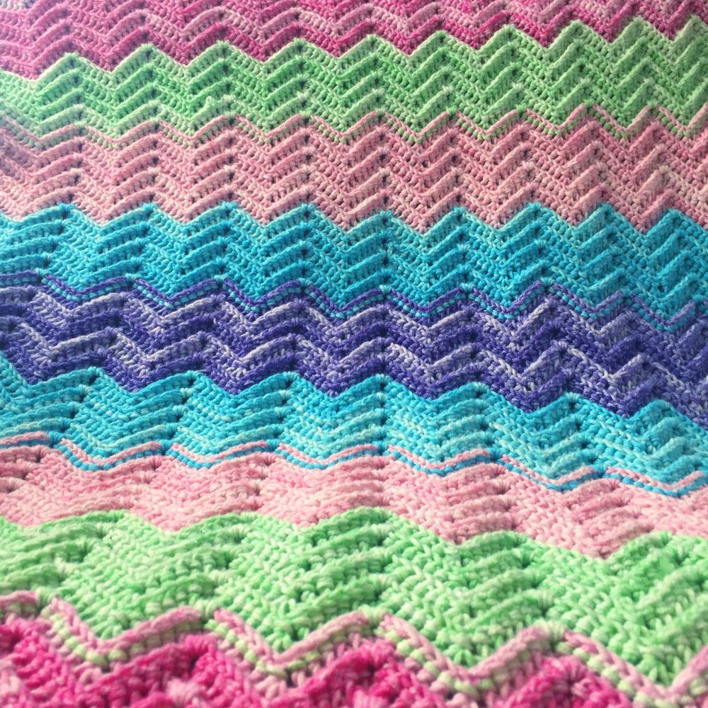 Textured Chevron Blanket – Free Crochet Pattern | Manta, Hola y Tejido