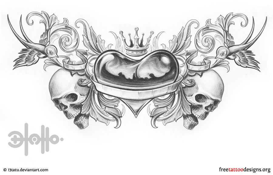heart locket tattoos