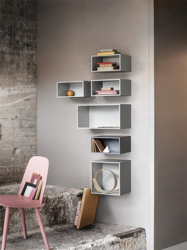 Muuto Mini Stacked Storage System Shelves Cube Shelves Danish