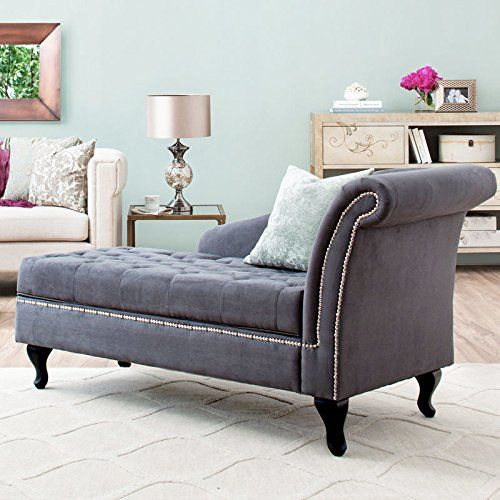Awesome Storage Chaise Lounge Luxurious Tufted Classic/traditional Style By  Castleton Home Modern Long Chair/