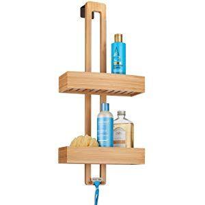 mDesign Duschablage zum Hängen praktisches Duschregal