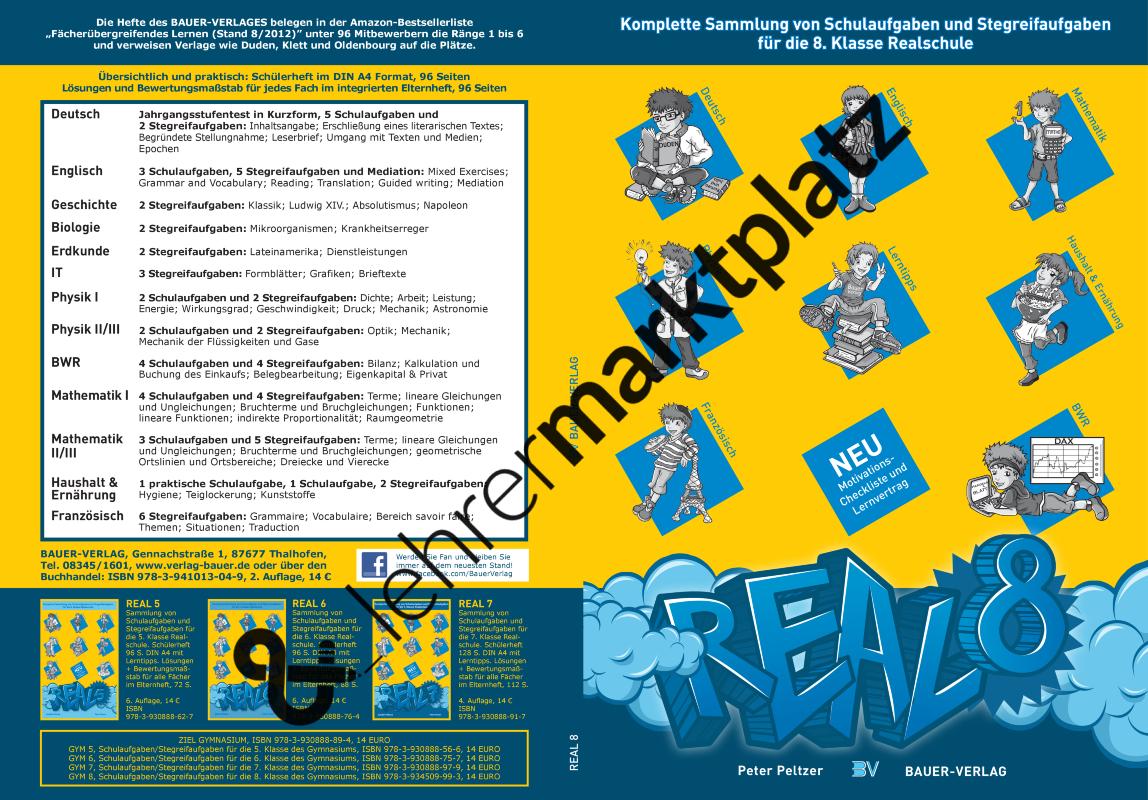 REAL 8 - Schulaufgaben/Stegreifaufgaben für die 8. Klasse der ...