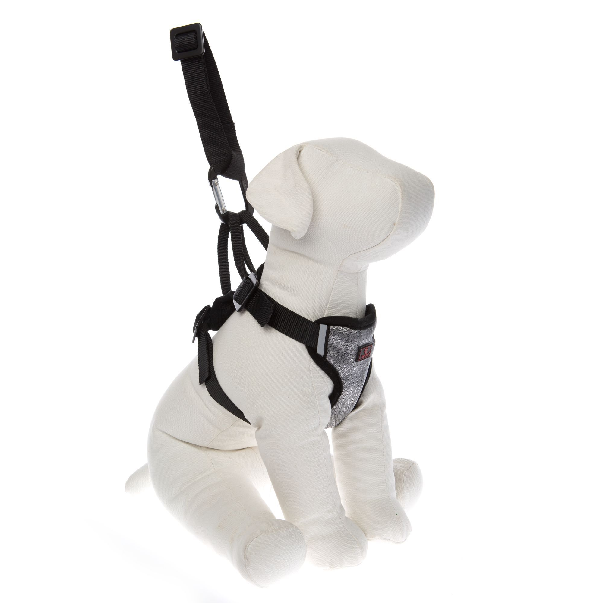 Top Paw Travel Dog Harness Size Large Aluminum Black Silver