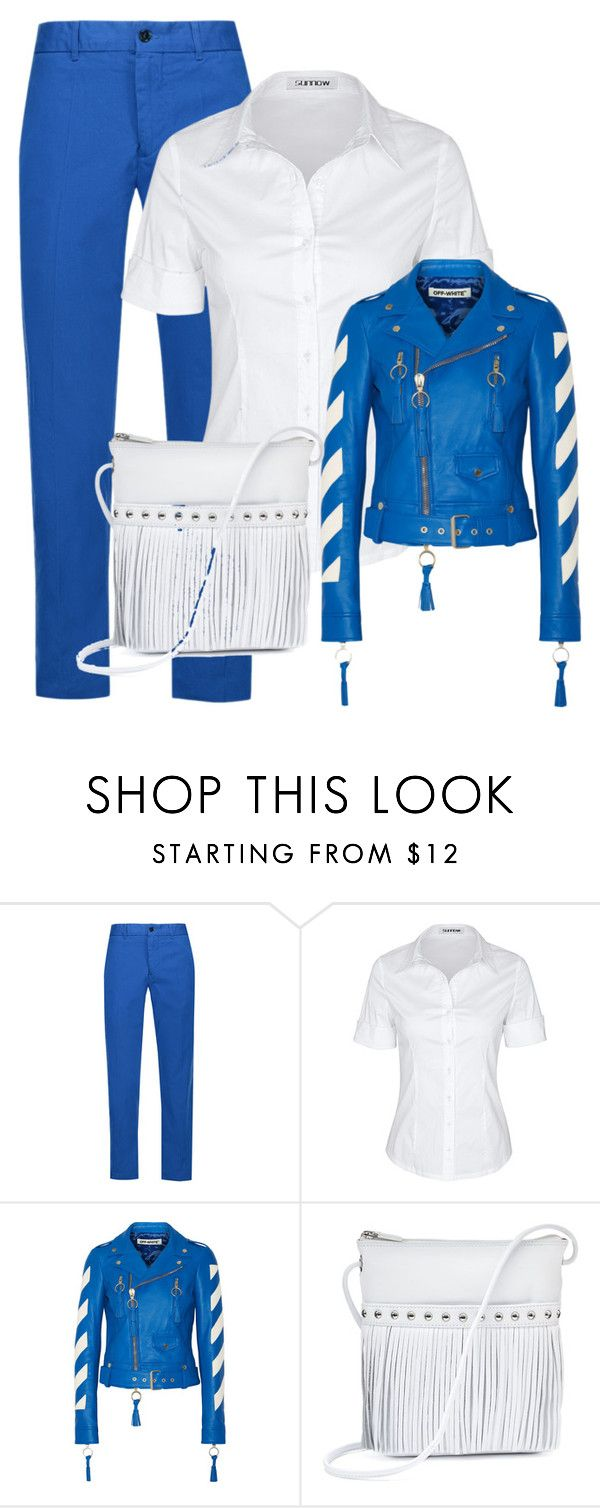 """♡Cobalt blue"" by im-karla-with-a-k ❤ liked on Polyvore featuring Étoile Isabel Marant, Off-White and ILI"