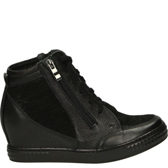 Pin By Gosia On Buty All Black Sneakers High Top Sneakers Wedge Sneaker