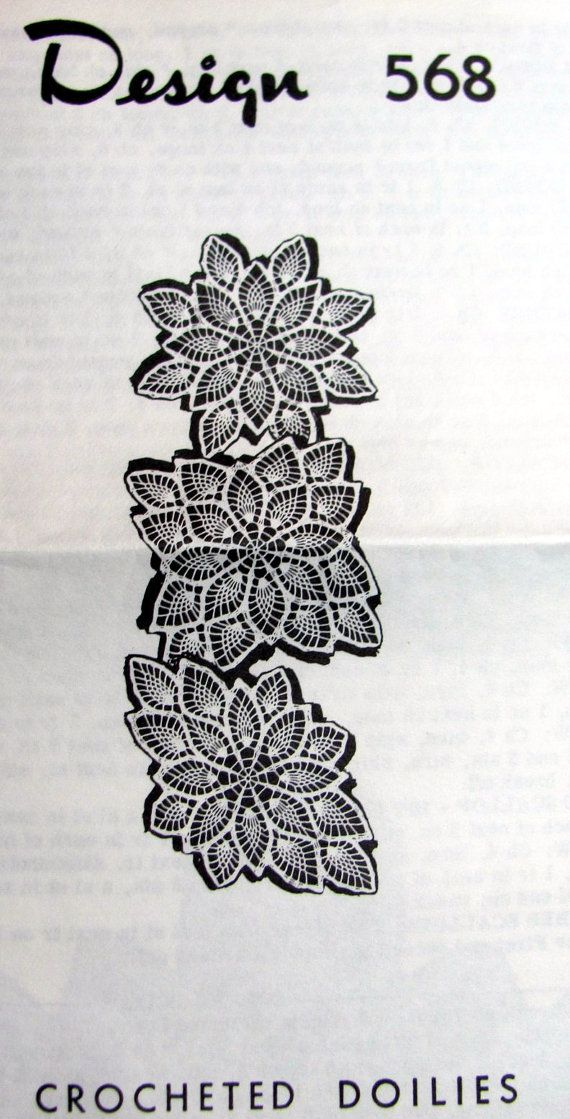 Vintage Pineapple Doilies Crochet Pattern, Round Square and Oval ...