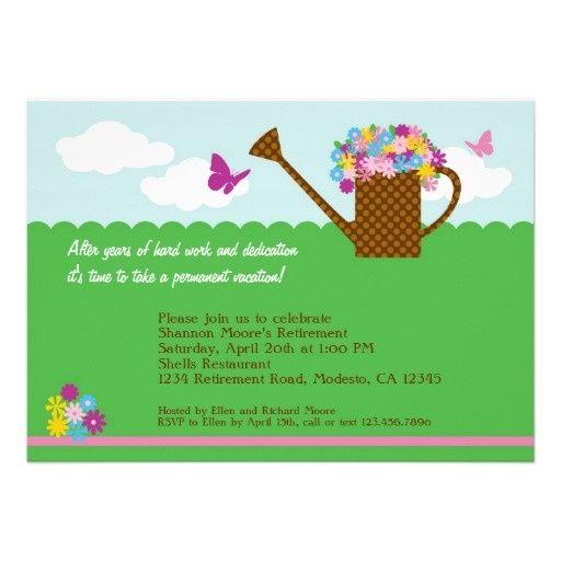 gardening retirement party invitation 1 90 pa ar ty