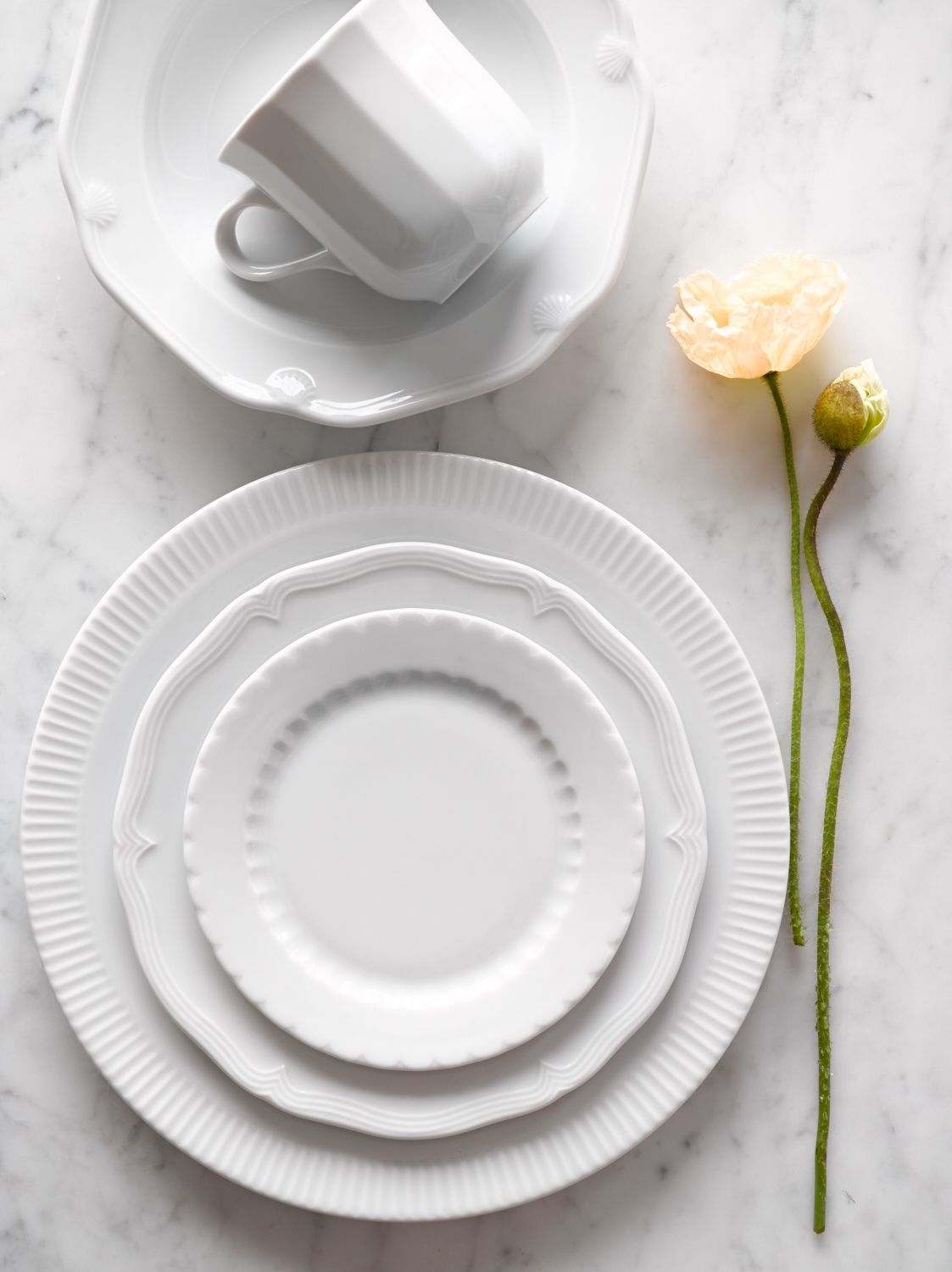 Mix and match Pillivuyt Eclectique Dinnerware (Mix Match Dinnerware) & Mix and match Pillivuyt Eclectique Dinnerware | Modern Heirlooms ...