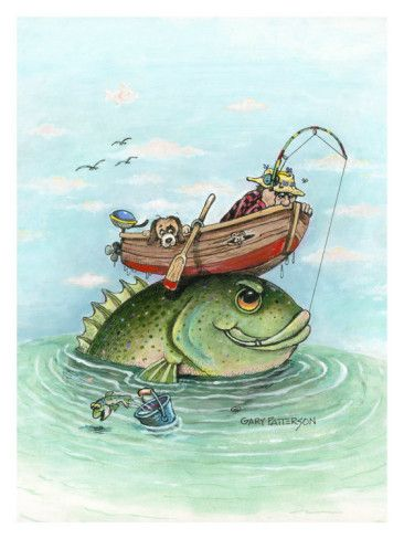 Catch Of The Day Giclee Print By Gary Patterson Allposters Ca In 2021 Gary Patterson Boat Illustration Boat Drawing