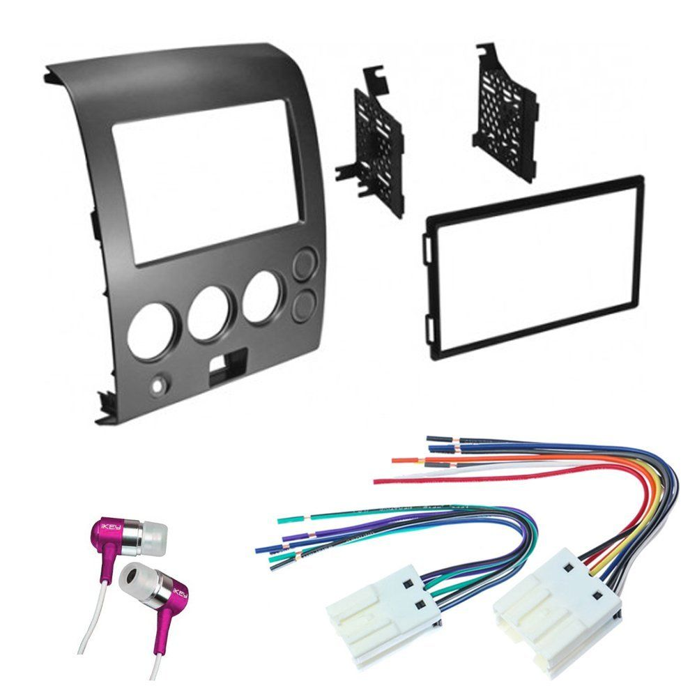 Car Cd Stereo Receiver Dash Install Mounting Kit Wire Harness Nissan Wiring Titan Armada 2004 2007