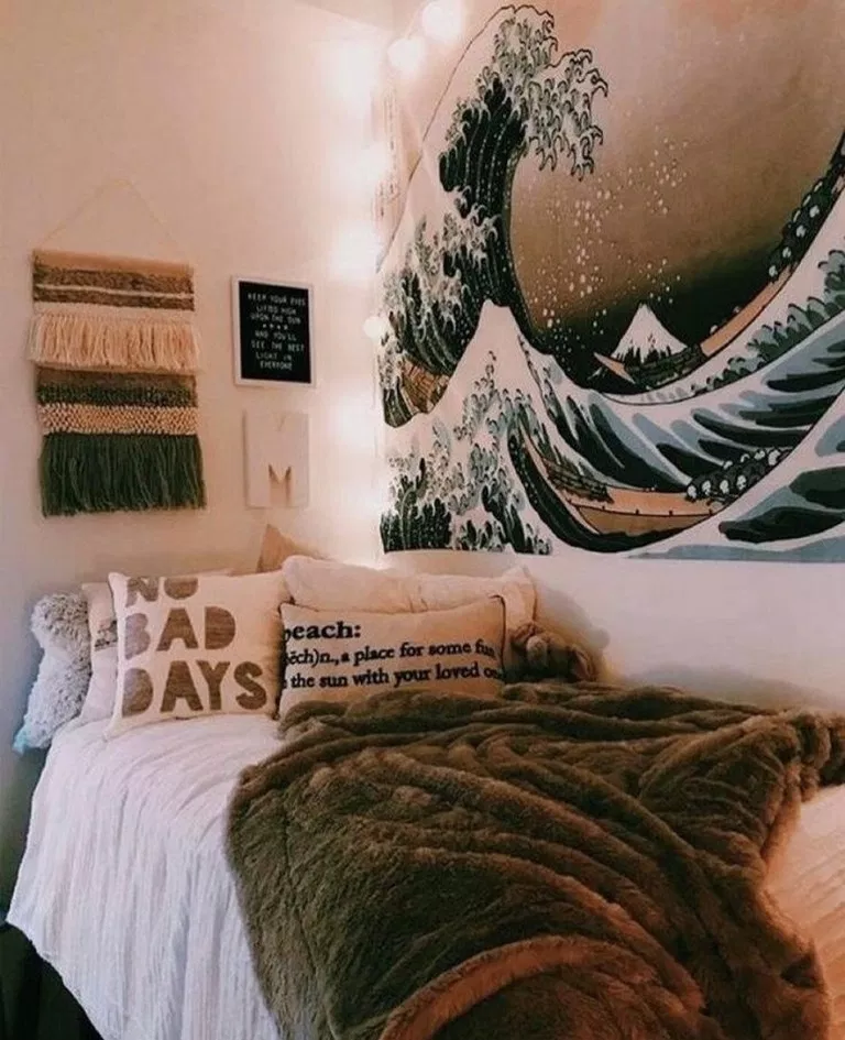 50 Sleigh Bed Inspirations For A Cozy Modern Bedroom: 95 Dorm Room Decorating Inspiration Ideas 10 In 2020