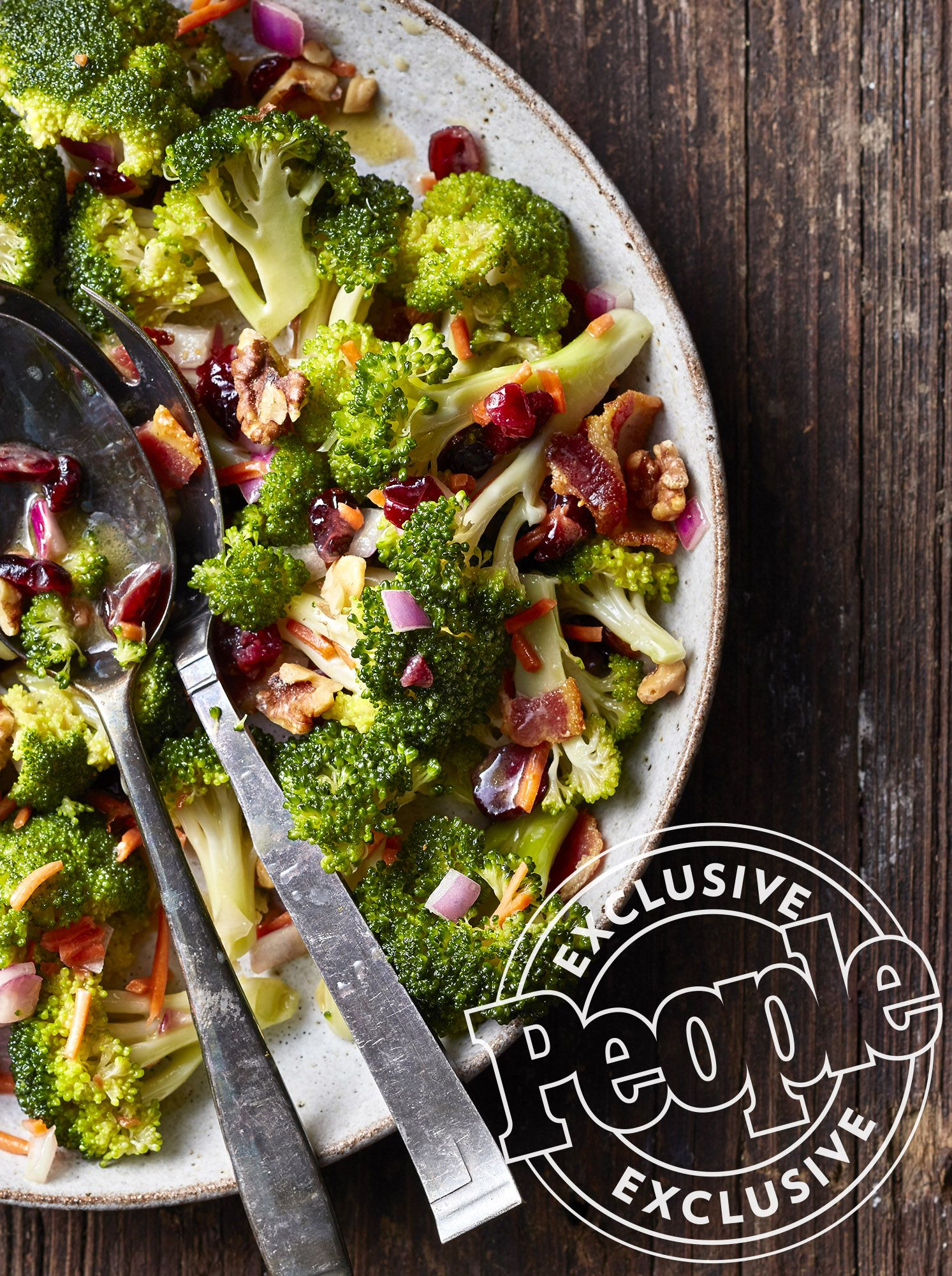 Valerie Bertinelli's Broccoli, Cranberry and Bacon Salad #valeriebertinellirecipes