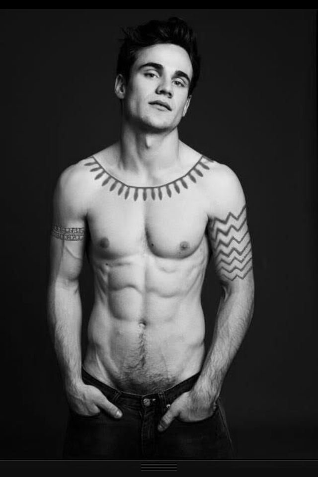 Godric from TrueBlood. Thank you, to whomever put the tattoos on Allan Hyde. We are much in your debt! ^_^