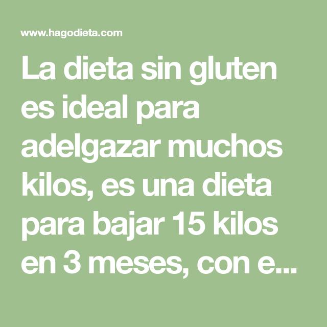 dieta 15 kilos en 3 meses
