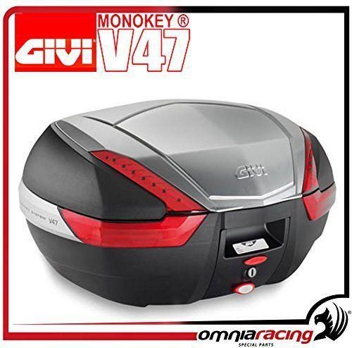 Givi V47 Topcase Monokey avec un Diaphragme en Aluminium 47 L