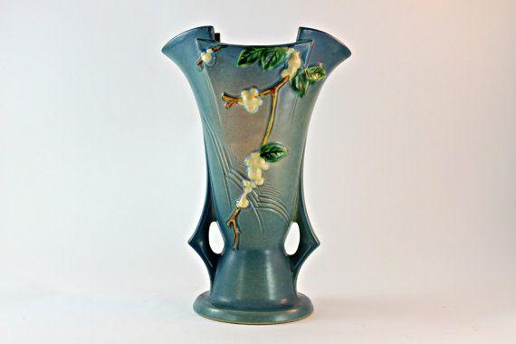 Roseville Blue Snowberry Vase Roseville Snowberry 12 Vase