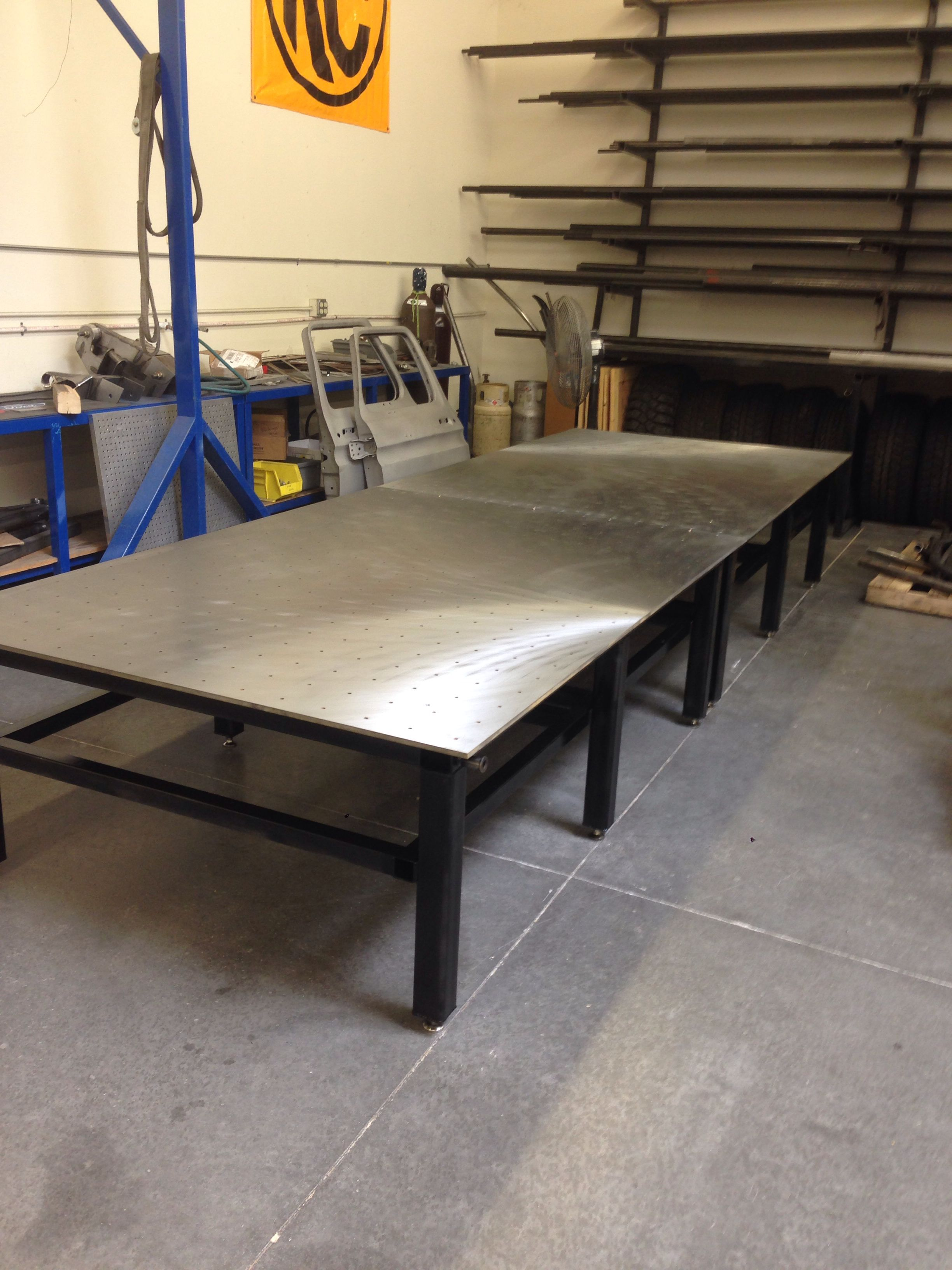 New Chassis Table Before All The Tooling Went On Fmi
