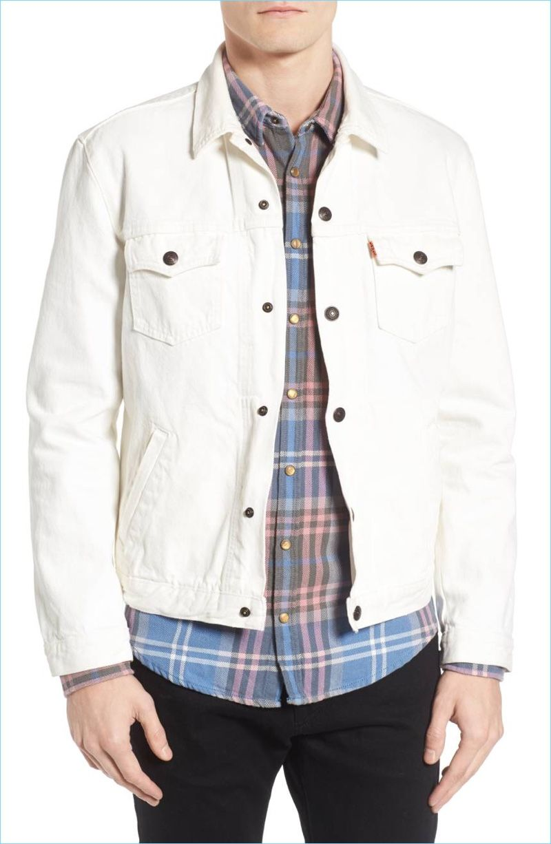 J Crew Rounds Up Its Smart Chino Pant Fits Denim Jacket Men Trucker Jacket Men Denim Jacket Fashion