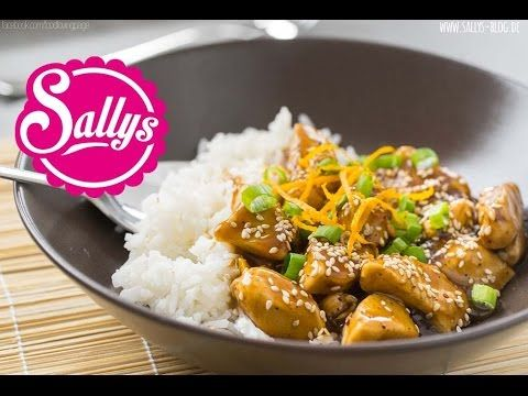 Photo of Asian orange chicken with basmati rice – Sally's blog