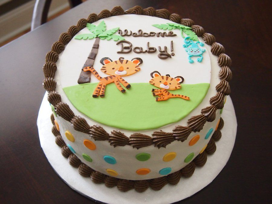 Fisher Price Rainforest Jungle Safari Baby Shower Cake Fisher Price