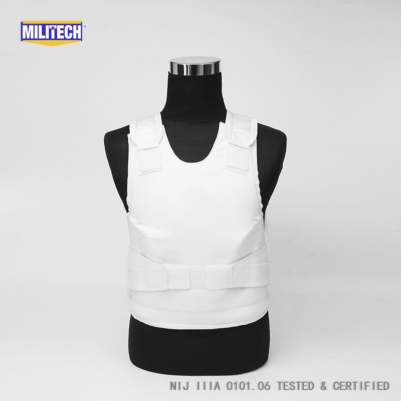 Militech White Female NIJ IIIA 3A and Level 1 Stab Concealable