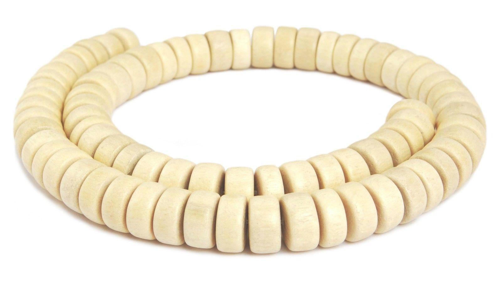 8x3 mm Holzperlen Strang Naturperlen H.GO-12 Goldregenholz Perlen Räder ca