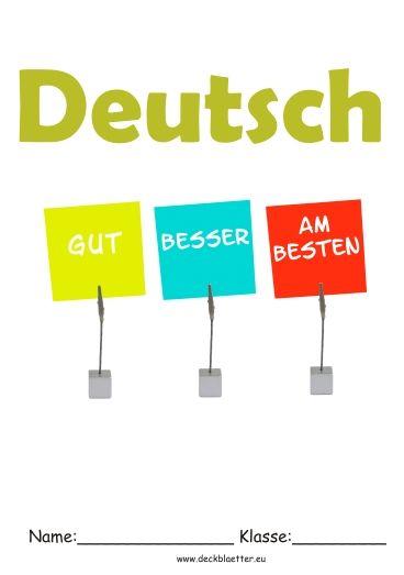 Thema Deutsch Deckblatt Schulfach Picture Schule Website Custom