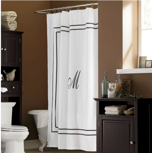 another take on the monogram shower curtain country