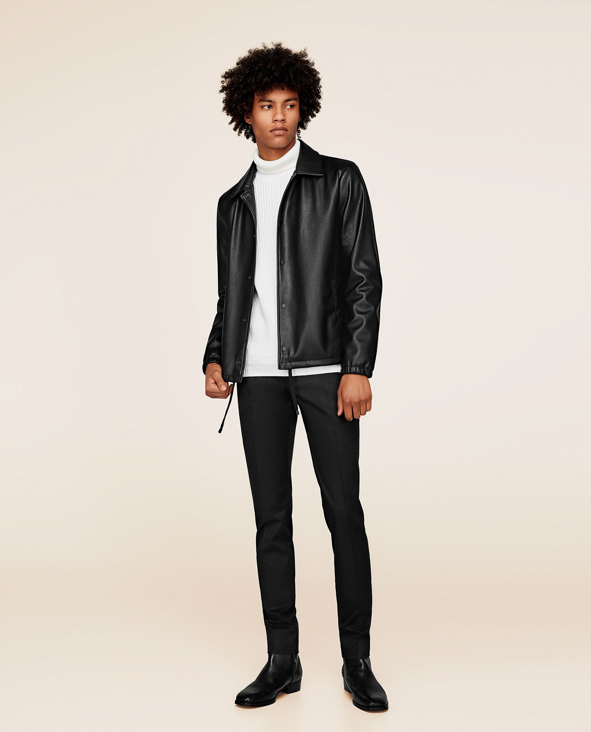 Image 1 of FAUX LEATHER JACKET from Zara Blazer sale