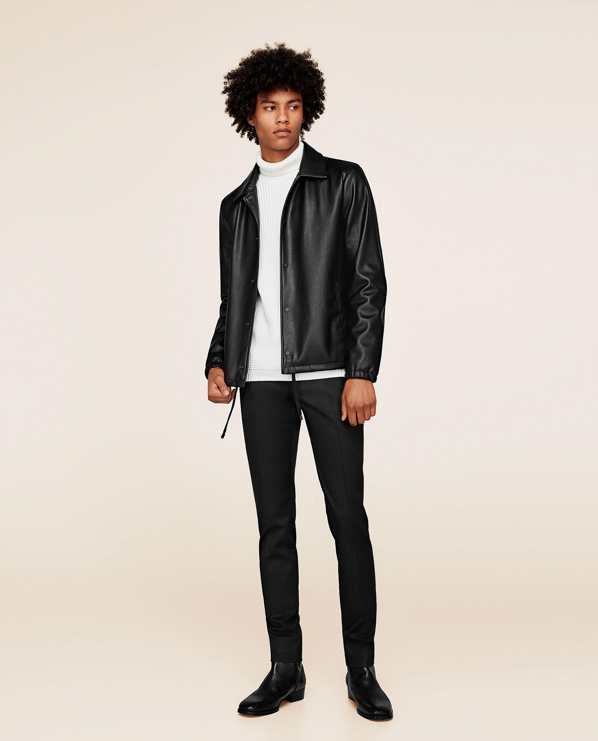 Image 1 of FAUX LEATHER JACKET from Zara Blazer sale