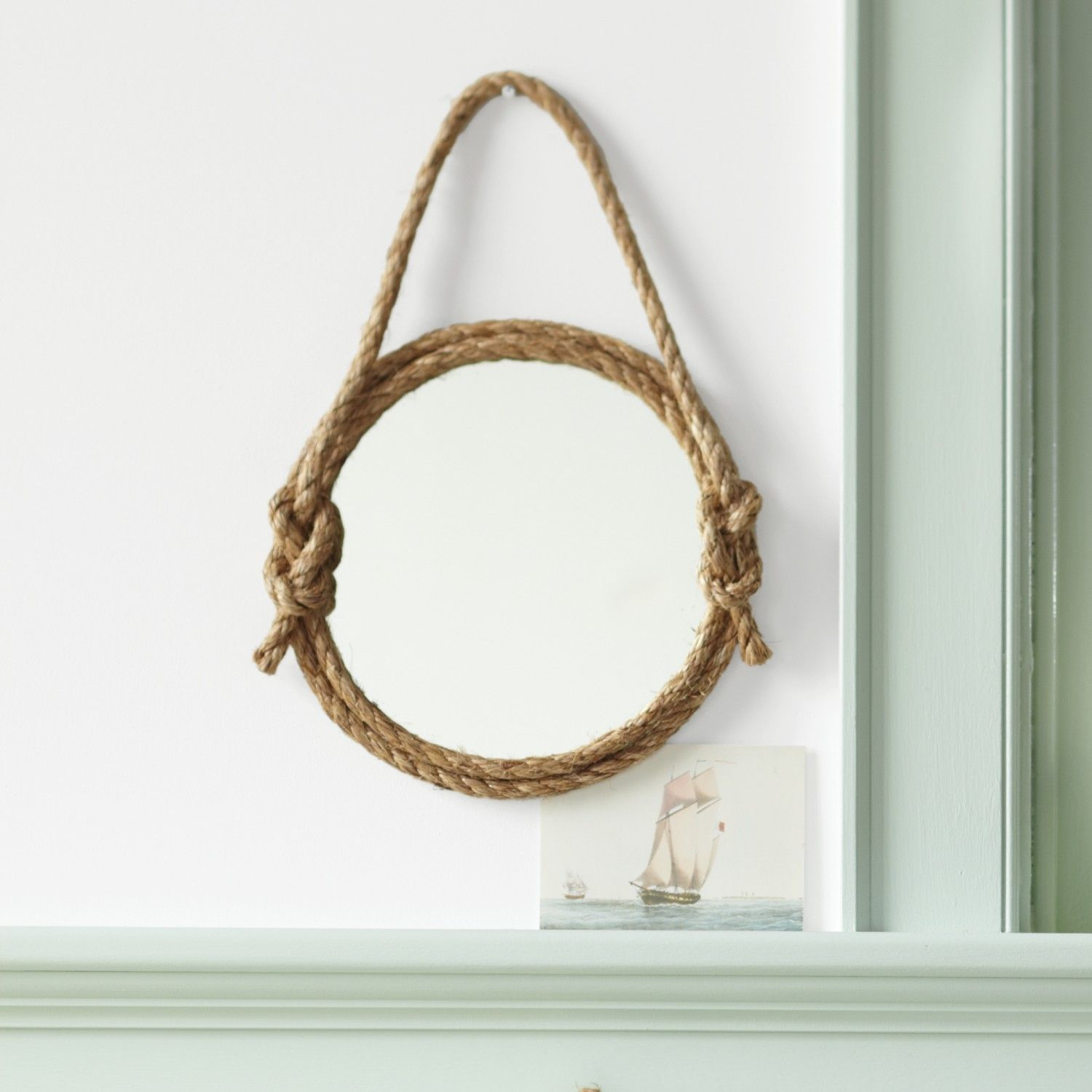Diy This Frame Out A Mirror With Rope Martha Stewart