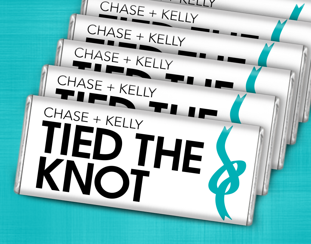 The Knot Wedding Gifts: Tied The Knot Wedding Favors: Chocolate Bars Perfect For A