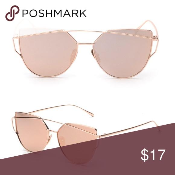 63ae3229ec6 Rose gold mirrored sunglasses Rose gold mirrored sunglasses Accessories  Sunglasses