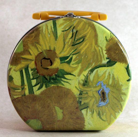 SOLD: Unique Vincent van Gogh Sunflower Metal by DameVintiqueBoutique