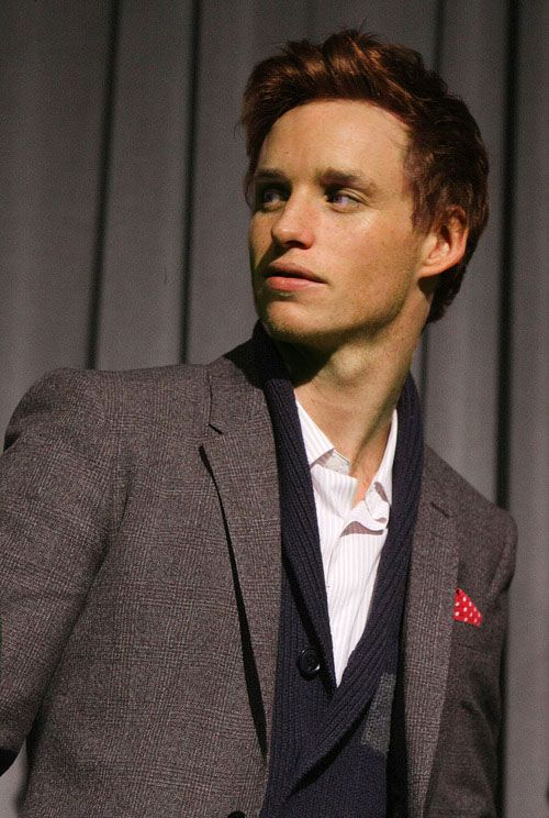"""Eddie Redmayne. I saw him on Broadway in """"Red"""" with Alfred Molina and in many British film and television productions."""