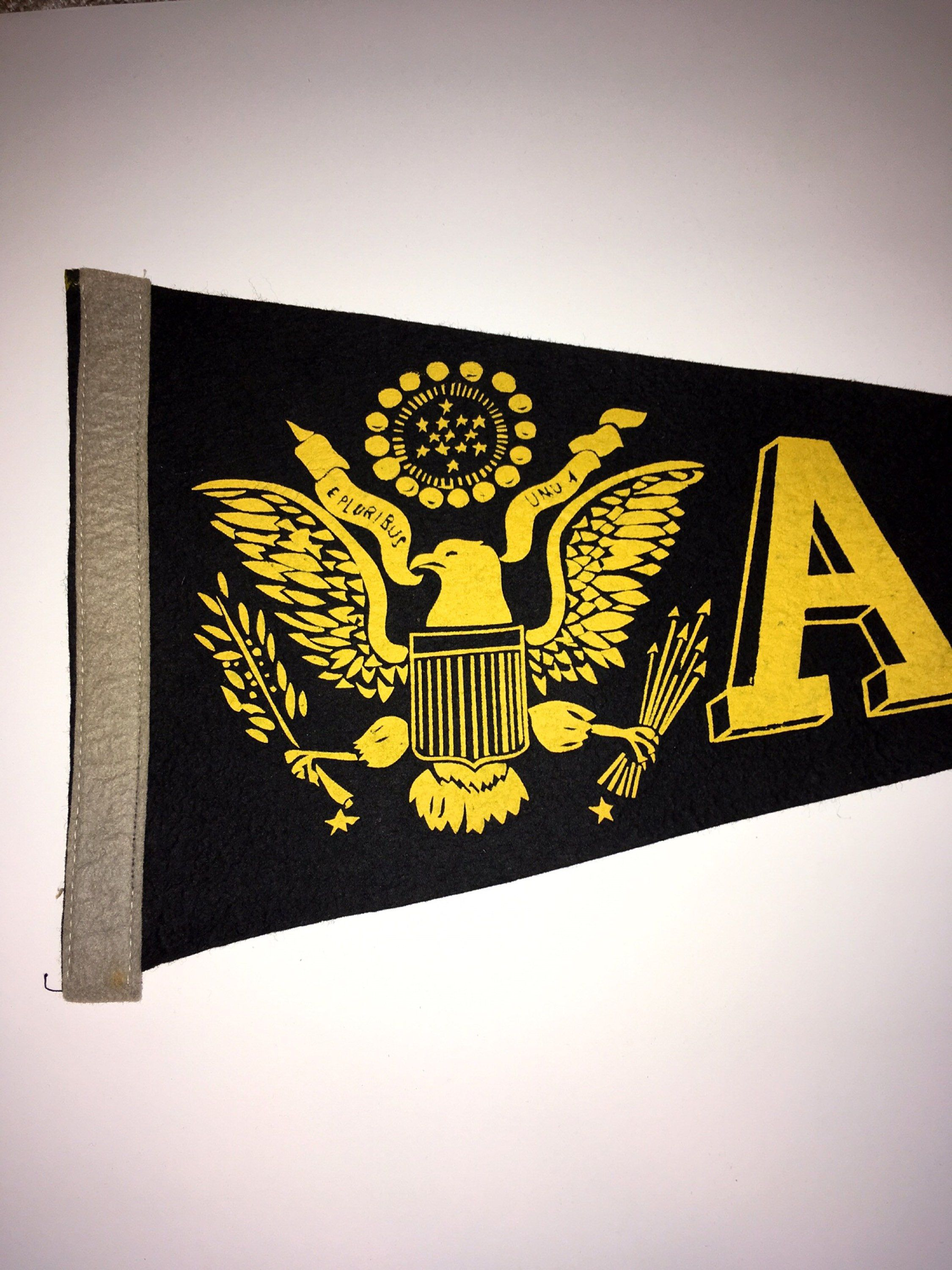 Vintage army pennant football felt school pennant flag ss