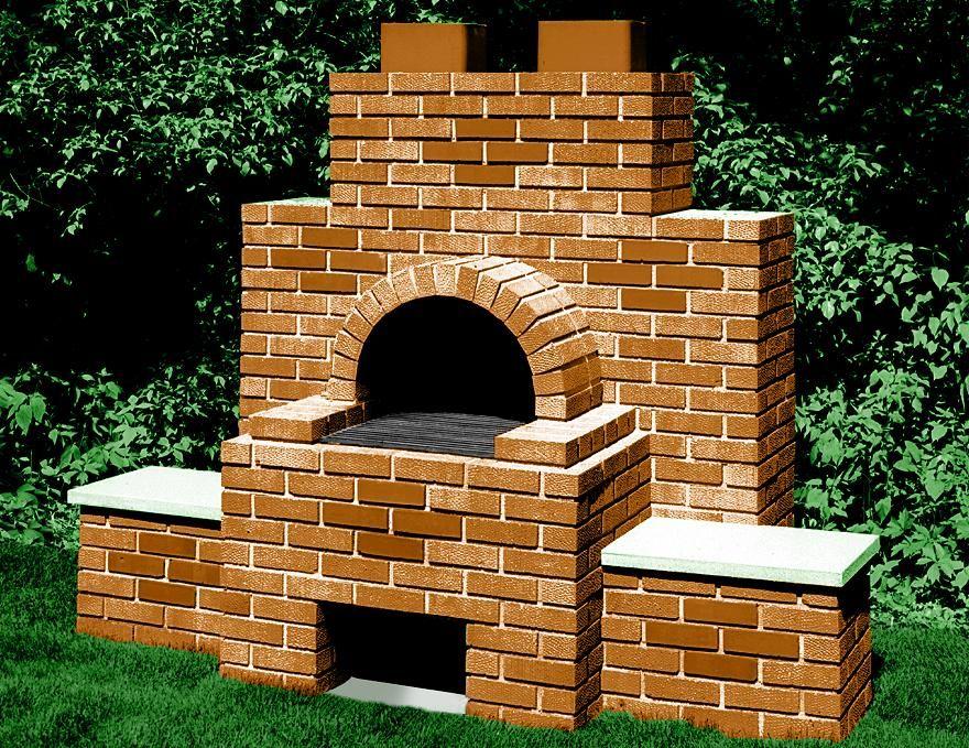 Backyard brick barbecue...