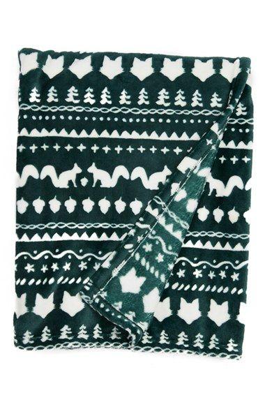 Nordstrom at Home Fair Isle Plush Velvet Throw Blanket available ...