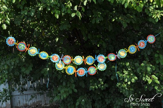 Monster Birthday Banner Monsters Aliens by sosweetpartyshop