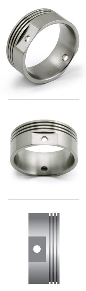 Titanium Ring Engine Piston design