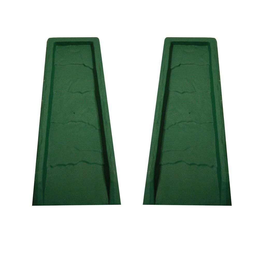 Master Mark Block Green Rain Water Gutter Down Spout Splash Blocks 2 Pack Mastermark Downspout Gutter Gutters