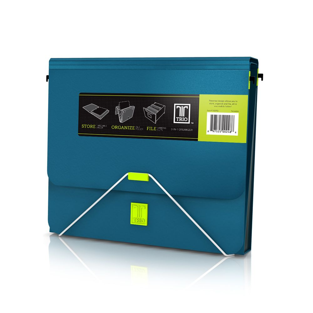 7pocket accordion file folder 3ring binder retractable hangers for file - Accordion Folder